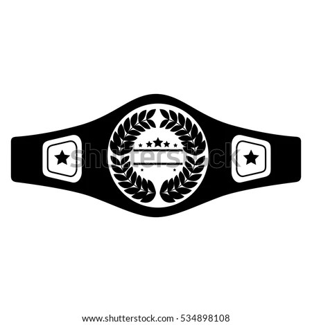 Boxing Belt Isolated Icon Stock Vector (Royalty Free