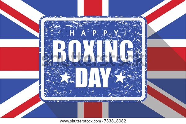 Boxing Day Rubber Stamp Uk Flag Stock Vector (Royalty Free) 733818082
