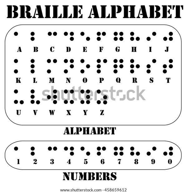 Braille Alphabet Letters Braille Tactile Writing 庫存矢量圖(免版稅)458659612