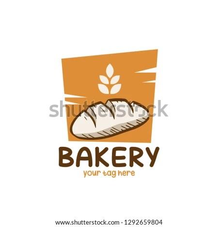 Bread Bakery Logo Design Inspiration Stock Vector Royalty Free