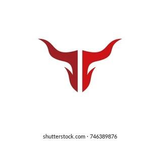 bull logo images stock