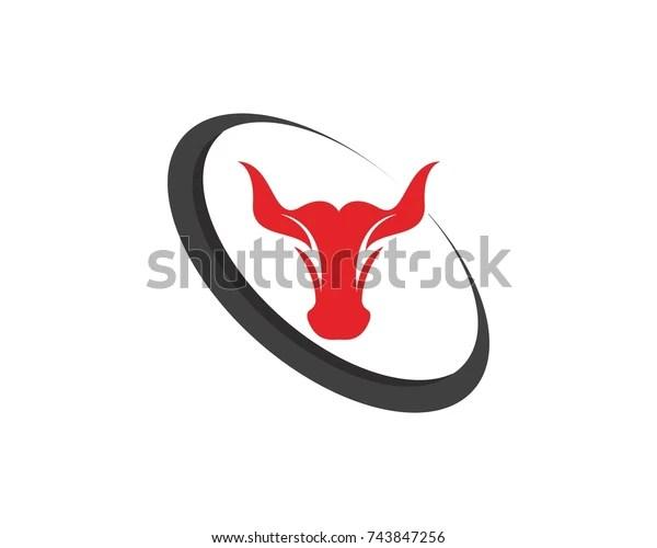 bull logos template stock