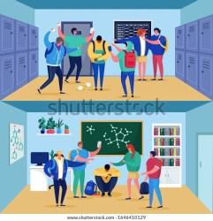 Bullying School Sad Cuacasian Boy Teenager Stock Vector Royalty Free 1646410129