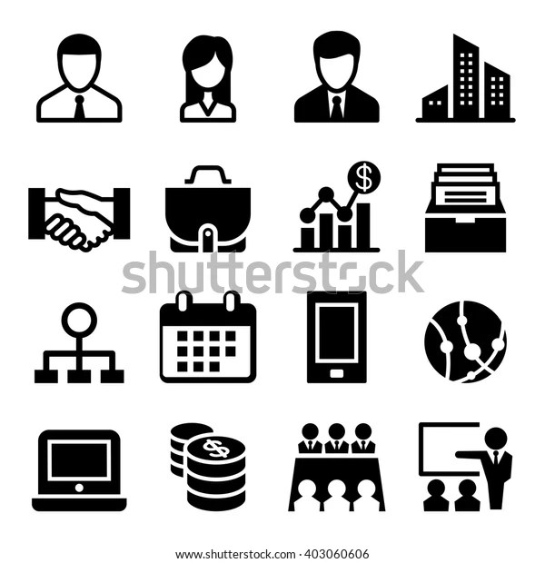 Business Icon Stock Vector Royalty Free 403060606