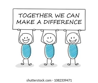 make difference stock illustrations
