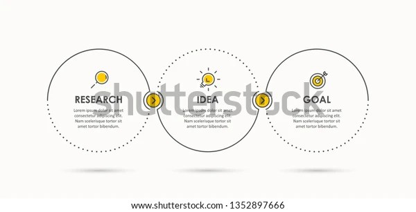 Business Infographic Template Thin Line Design Stock