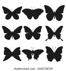 Butterfly Silhouette Images Stock Photos & Vectors Shutterstock