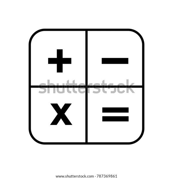 calculator app icon stock