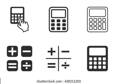 Calculator Pictogram Images, Stock Photos & Vectors