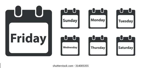Saturday Calendar Images, Stock Photos & Vectors