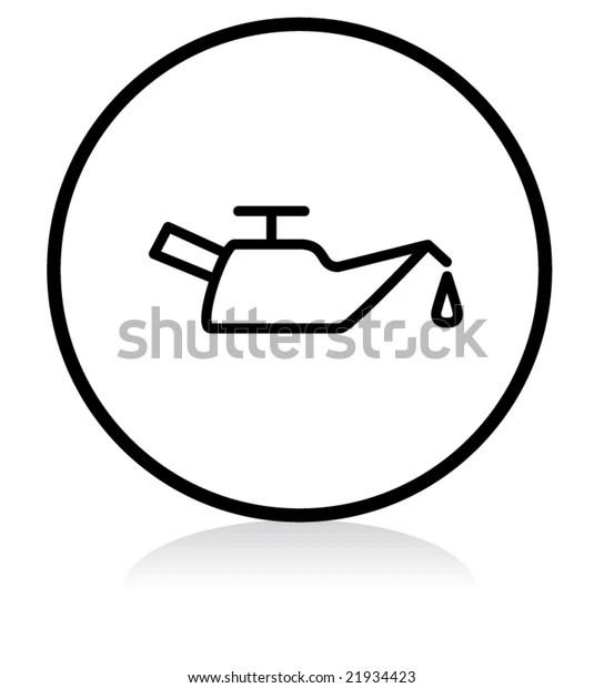 Car Problem Warning Illuminated Sign White Stock Vector