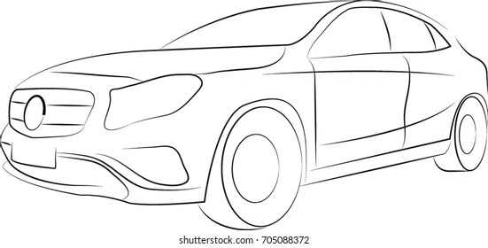 Similar Images, Stock Photos & Vectors of Outline Car