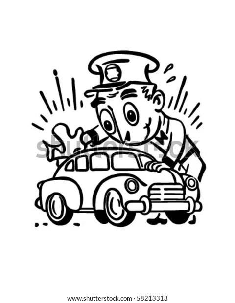 Car Wash Retro Clip Art Stock Vector (Royalty Free) 58213318