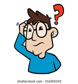 confused man clipart images