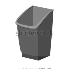 Kitchen Trash Bin Cabinets Handles Cartoon Grey Garbage Stock Vector Royalty Free Container Waste Disposal Themed Illustration For Icon