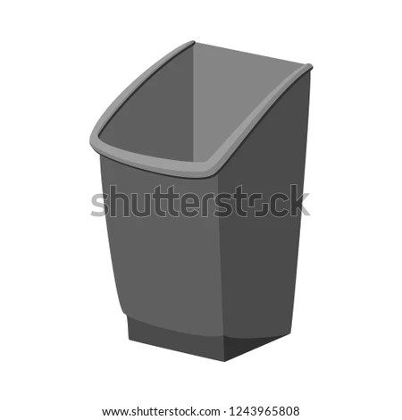 kitchen trash bin fan for exhaust cartoon grey garbage stock vector royalty free container waste disposal themed illustration icon