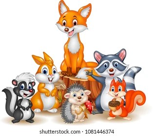 cartoon animals images stock