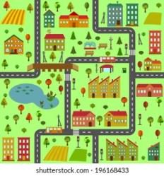 Cartoon Town Map Images Stock Photos & Vectors Shutterstock