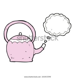 Cartoon Kettle Boiling Water Stock Vector Royalty Free 261813398