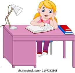 Cartoon Girl Studying Images Stock Photos & Vectors Shutterstock