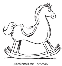 Cartoon Rocking Horse Images, Stock Photos & Vectors
