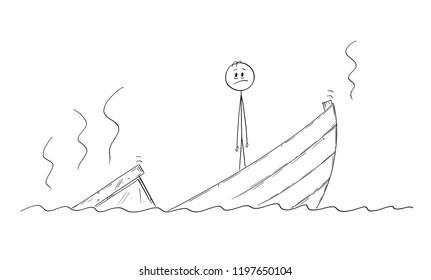 cartoon shipwreck Images, Stock Photos & Vectors