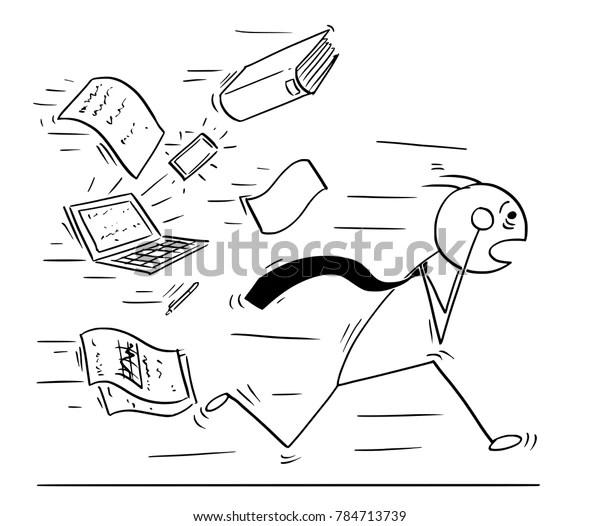 Cartoon Stick Man Concept Drawing Illustration Stock