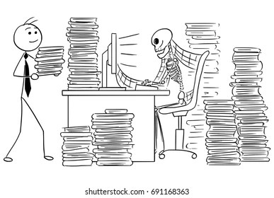 Lost and Found Office Stock Illustrations, Images