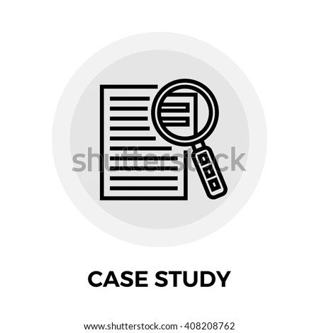 Case Study Services Icon Vector Flat Stock Vector (Royalty