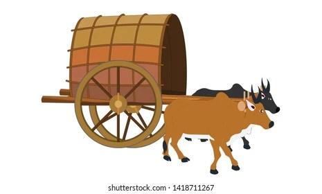 Bull Cart Images. Stock Photos & Vectors | Shutterstock