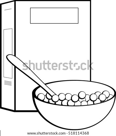 Cereal Box Bowl Stock Vector (Royalty Free) 518114368