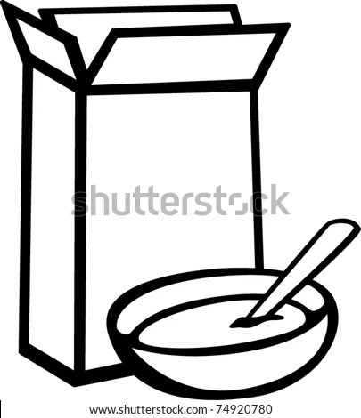 Cereal Box Bowl Stock Vector (Royalty Free) 74920780