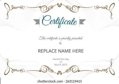 Certificate Border Images, Stock Photos & Vectors