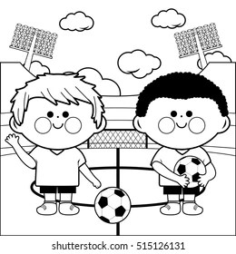 Football Coloring Page Images, Stock Photos & Vectors