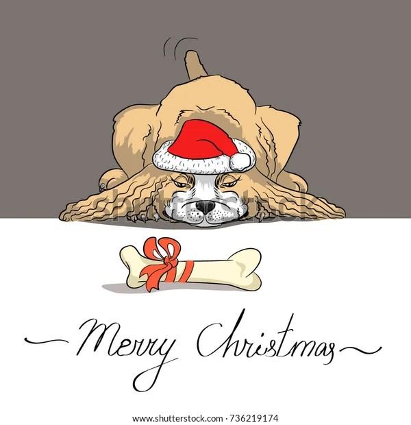 christmas card dog bone