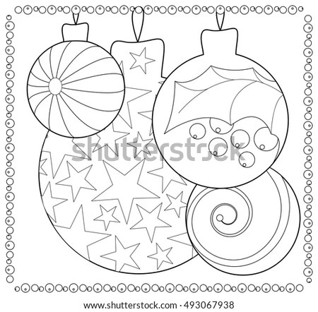 christmas ornament coloring page # 64
