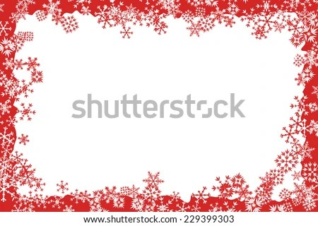Christmas Frame Stock Vector Royalty Free 229399303