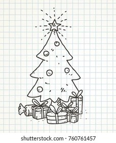 Christmas Tree Doodle : christmas, doodle, Christmas, Doodle, Images,, Stock, Photos, Vectors, Shutterstock