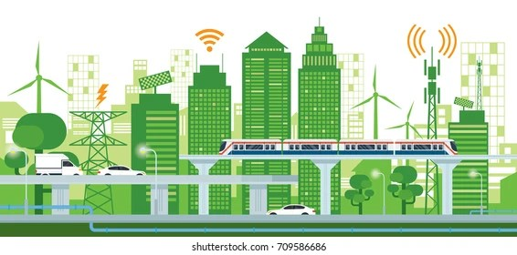 infrastructure green stock illustrations