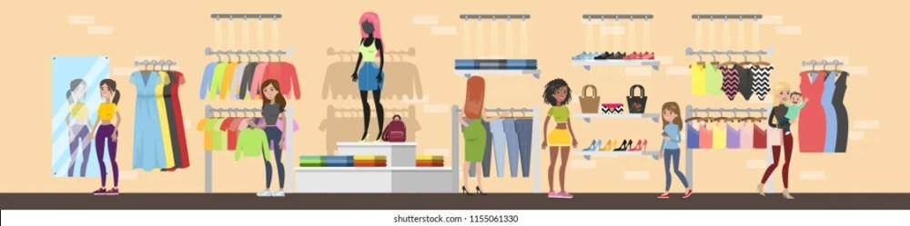 Clothes Shop Cartoon Images Stock Photos & Vectors Shutterstock