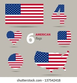 american flag heart images