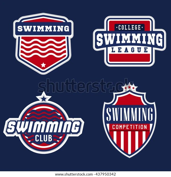 college swimming sport logos