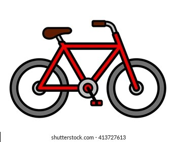 bicycle cartoon images stock