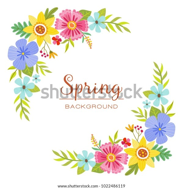 colorful spring floral design