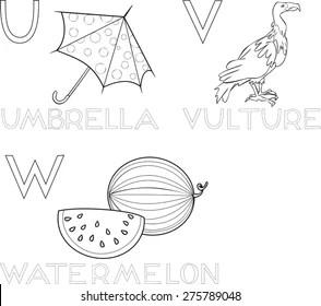 U for Umbrella Bird Images, Stock Photos & Vectors