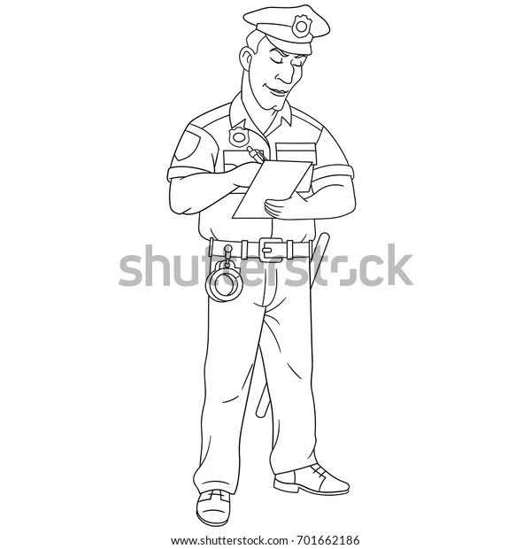 policeman coloring page # 41