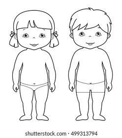 Child Body Outline Images, Stock Photos & Vectors