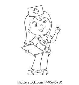 Nurse Coloring Book Images, Stock Photos & Vectors