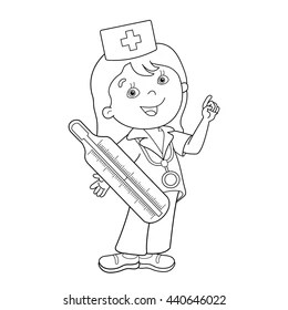 Nurse Coloring Book Images, Stock Photos & Vectors