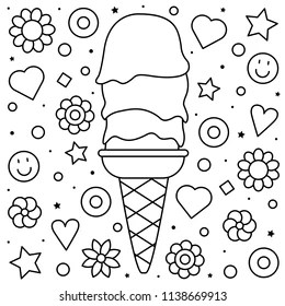 ice cream coloring pages Images, Stock Photos & Vectors